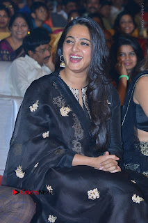 Actress Anushka Anushka Shetty Stills in Black Salwar Kameez at Om Namo Venkatesaya Audio Launch Event  0016.JPG