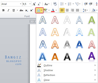 Text Effect microsoft word