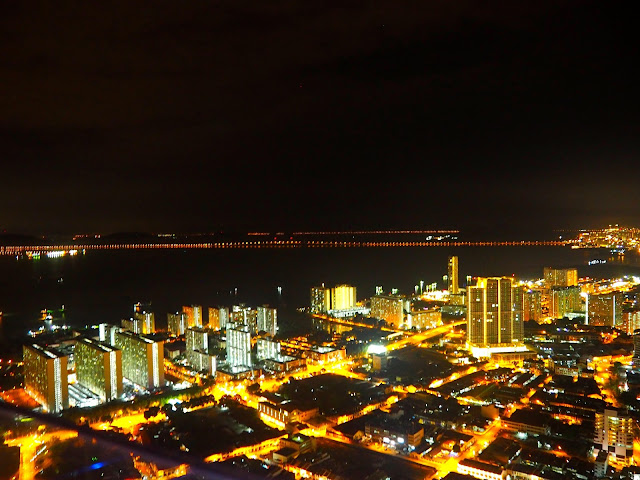 View from The TOP skywalk in Georgetown, Penang, Malaysia