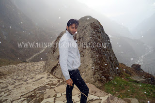 kedarnath snowfall ki photo