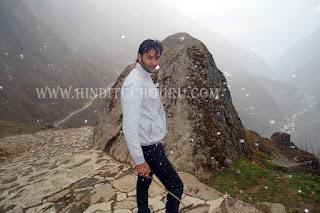 kedarnath snowfall ki photo