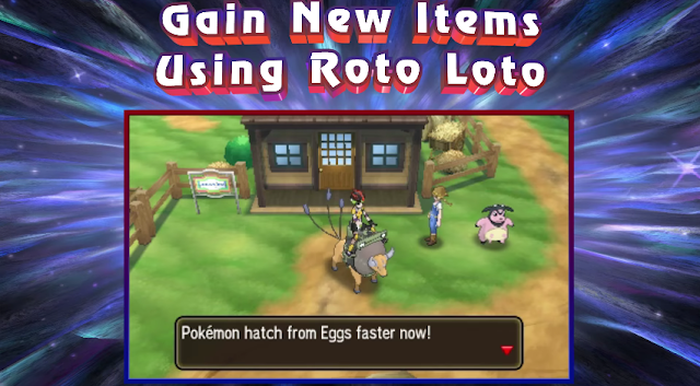 Roto Loto egg power Pokémon Ultra Sun Moon hatch faster Tauros Miltank Paniola Ranch