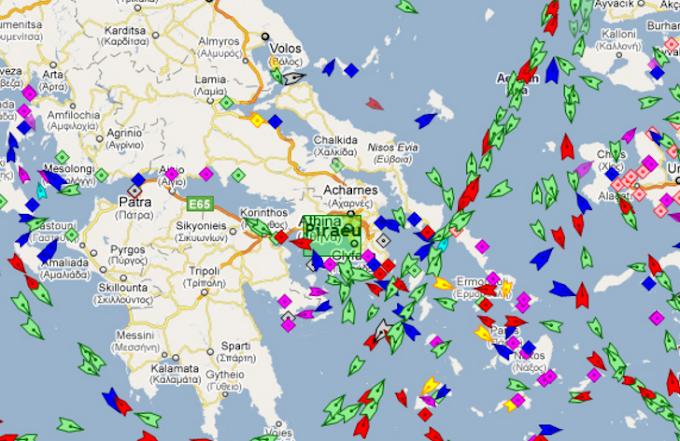 Δείτε σε πραγματικό χρόνο πού βρίσκονται τα πλοία στις θάλασσες