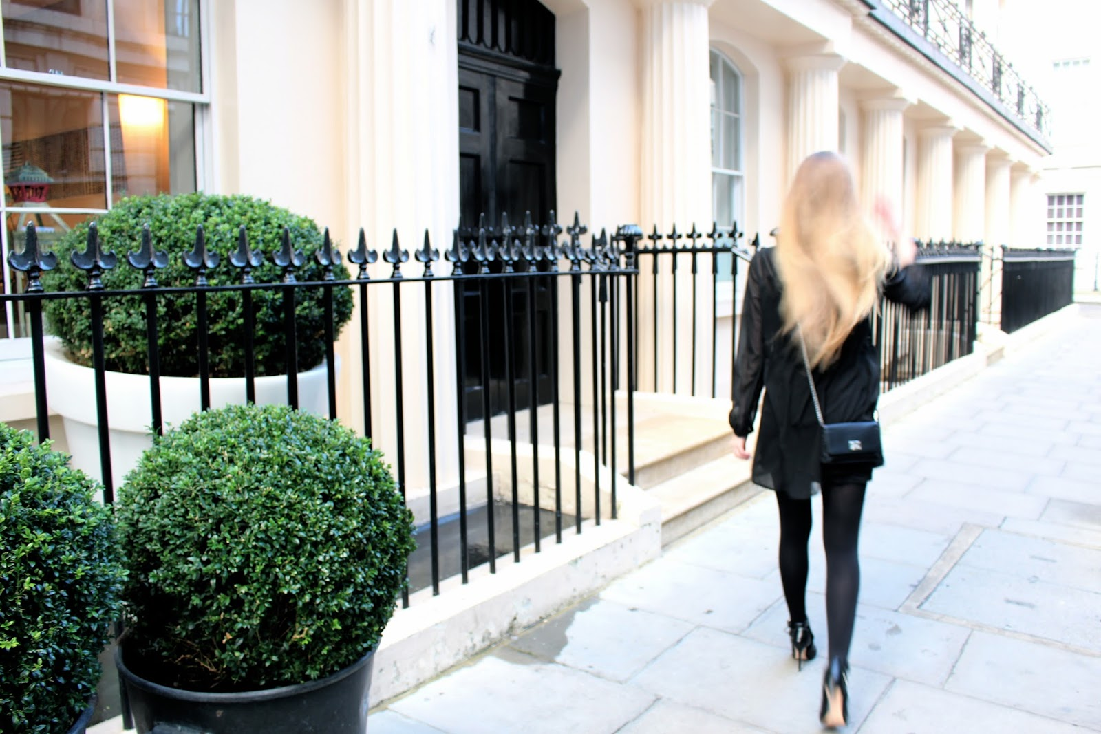 british fashion blogger long hair