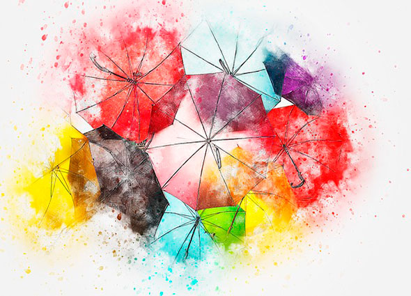 reciclar, paraguas, umbrellas, reconvertir, transformar, manualidadesz