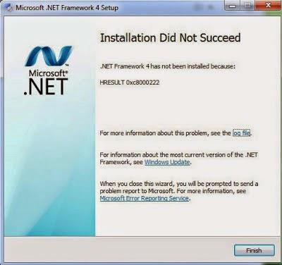 Instal Net Framework 4.0 Gagal Terus Kenapa..?