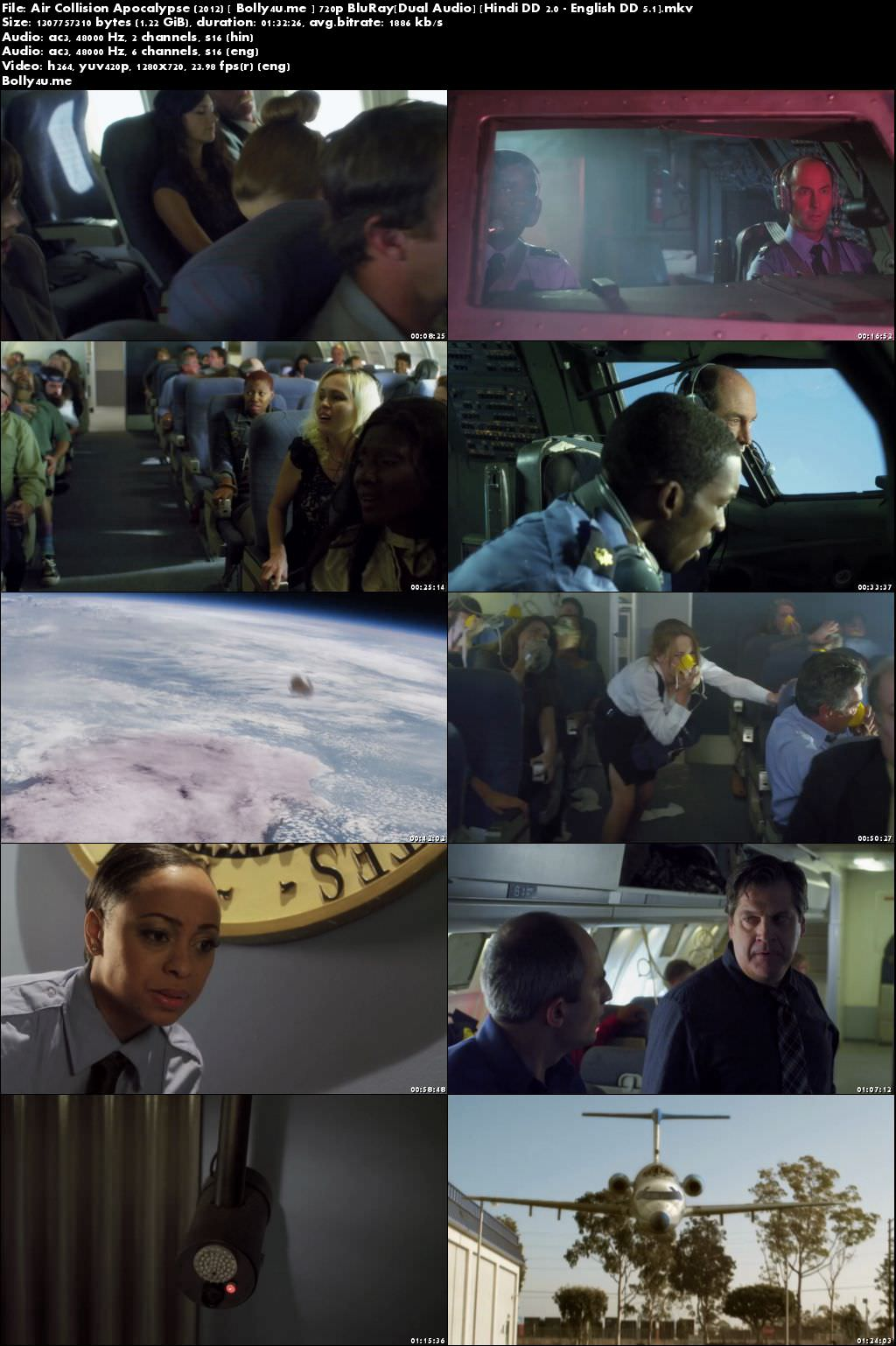 Air Collision Apocalypse 2012 BRRip Hindi Dubbed Dual Audio 720p Download