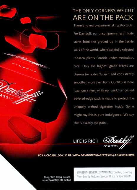 Davidoff Cigarette Coupons