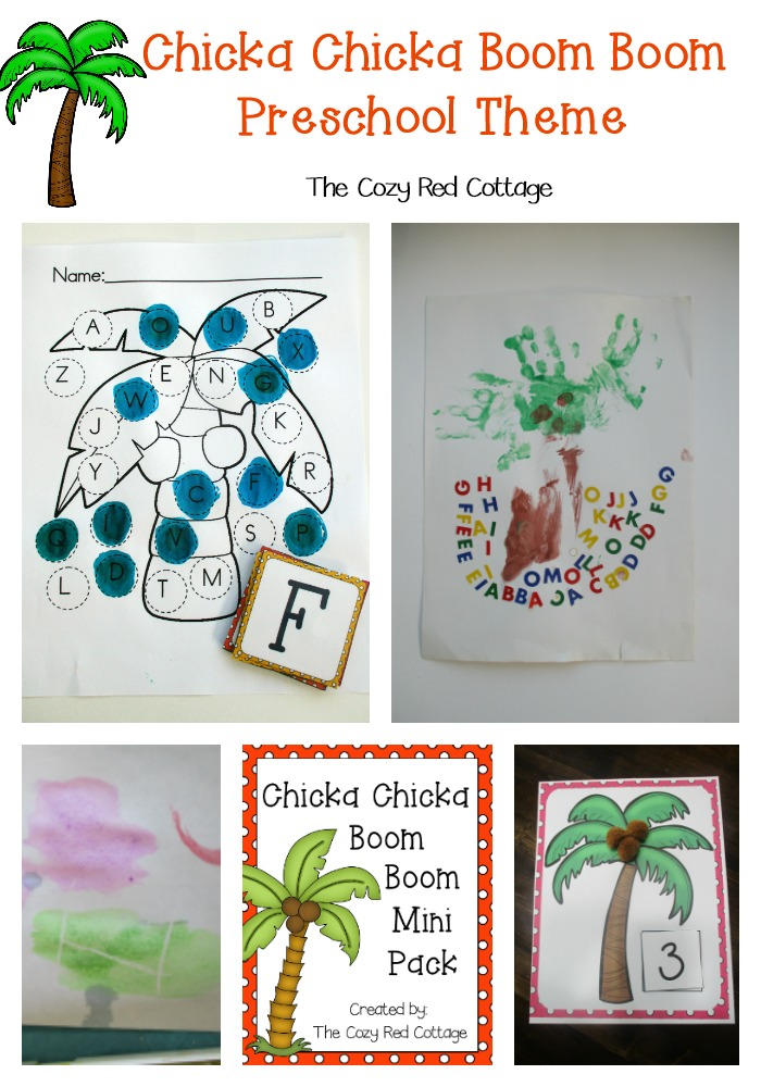 The Cozy Red Cottage Chicka Chicka Boom Boom Preschool Theme