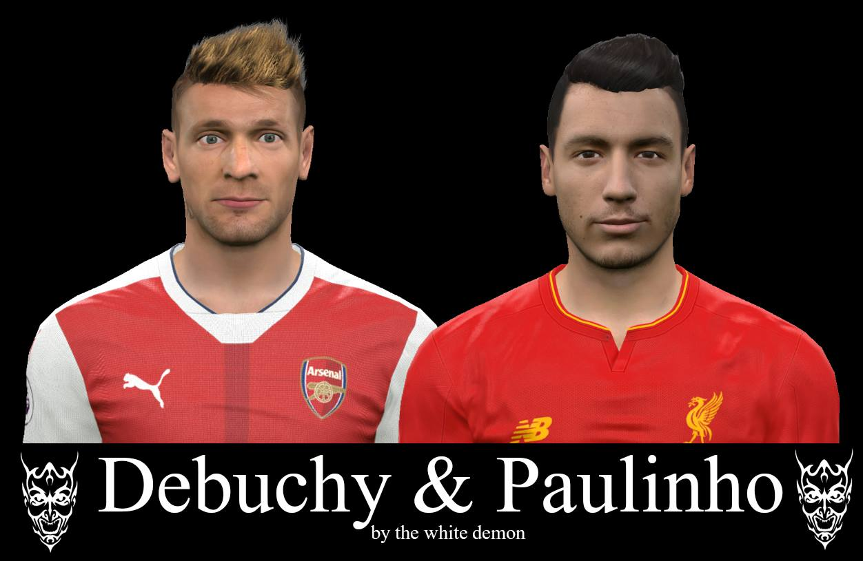 PES 2017 Debuchy & Paulinho Faces By The White Demon