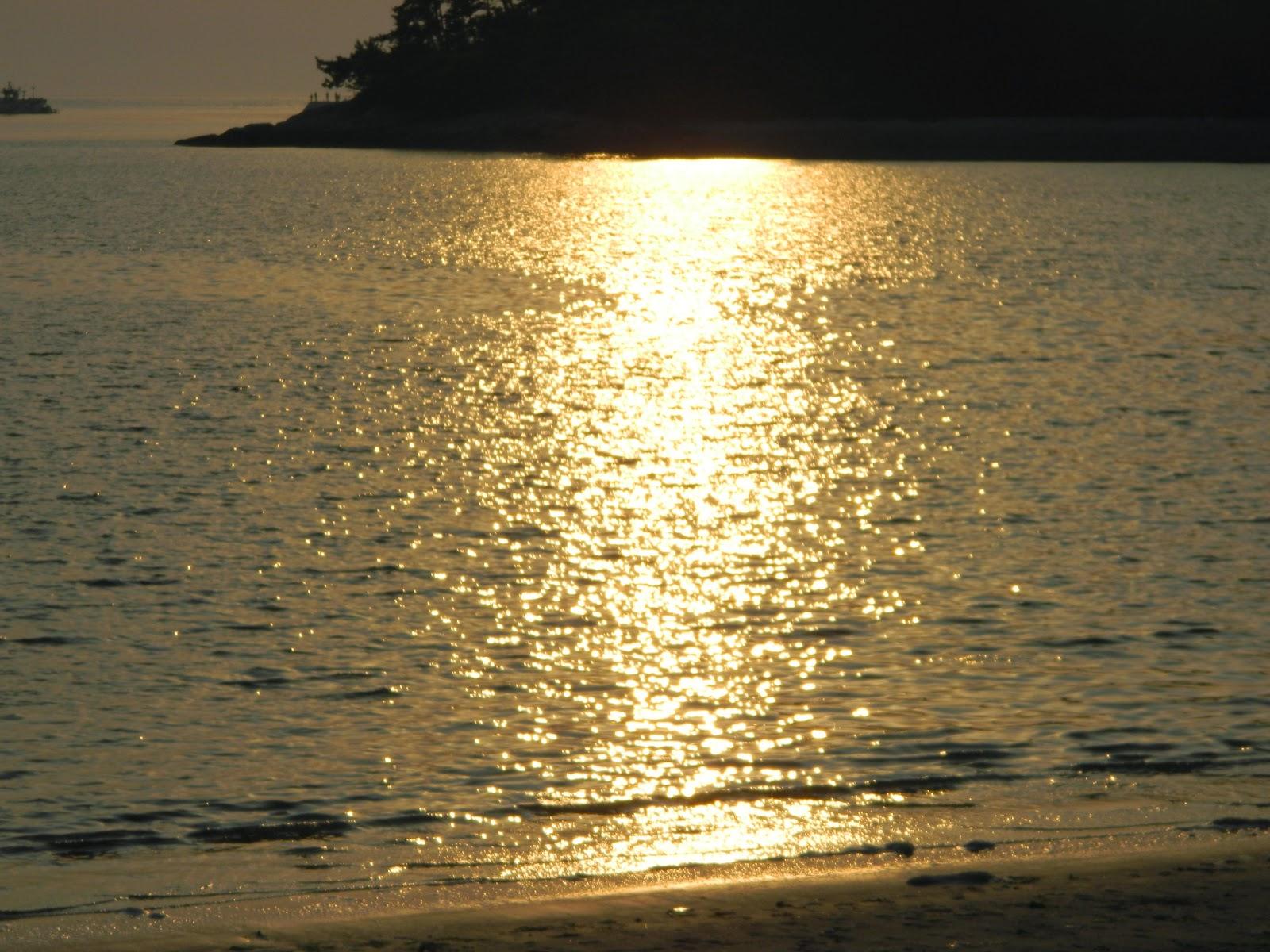 golden waters in Seonyudo island