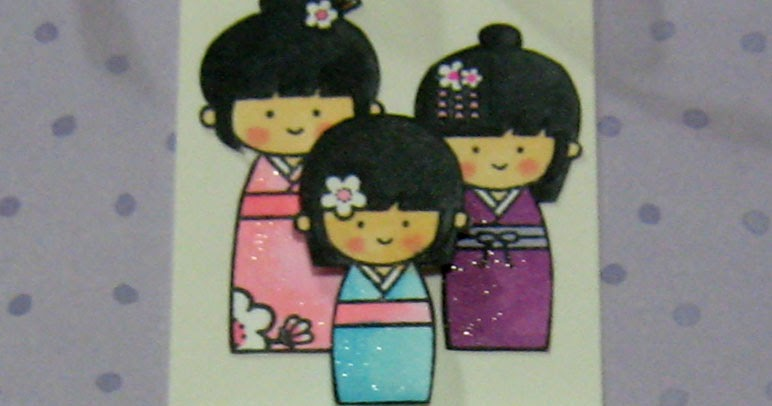 Dandelion Designs Kokeshi Gift Tags