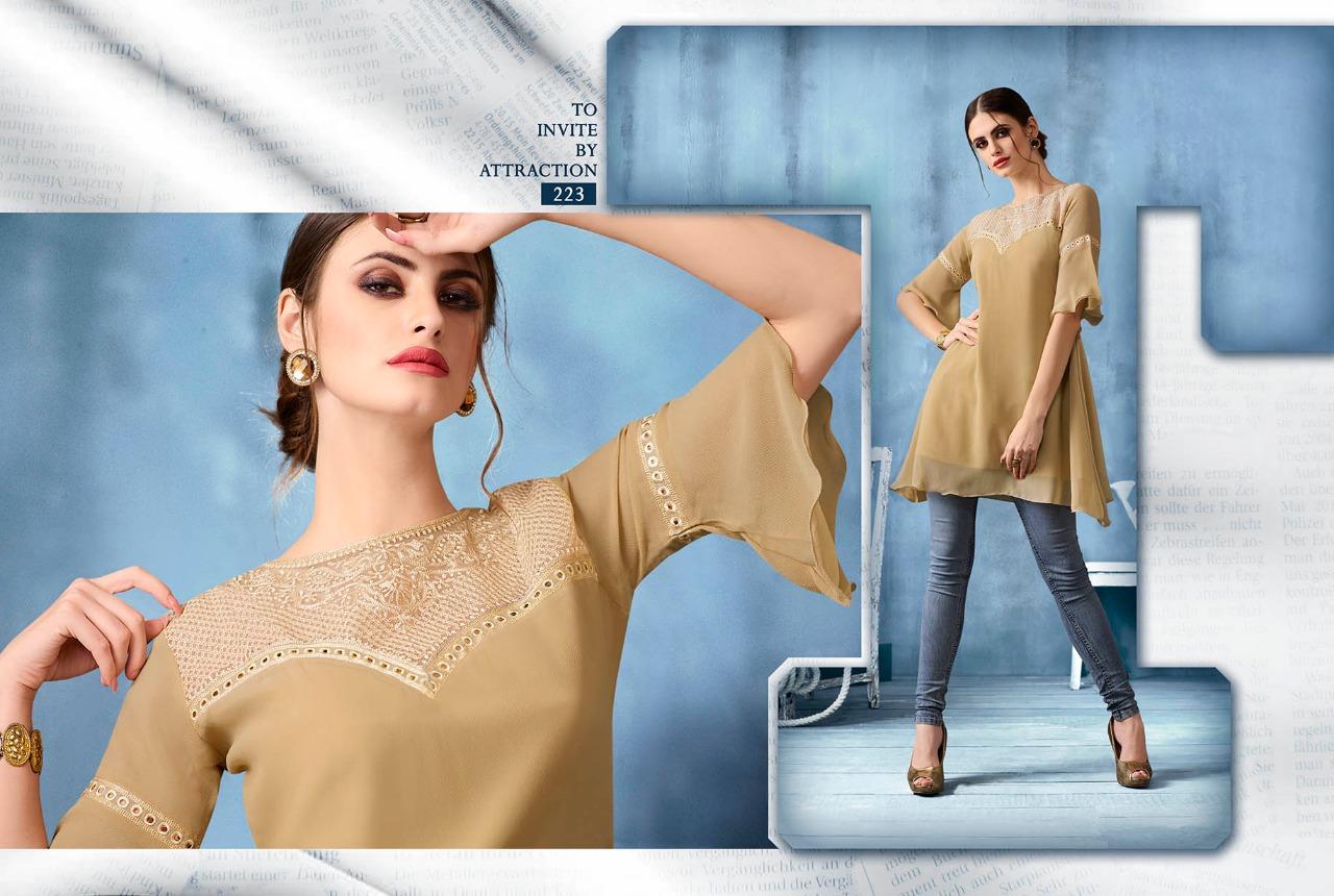 Kajree fashion silky soft kurties collection