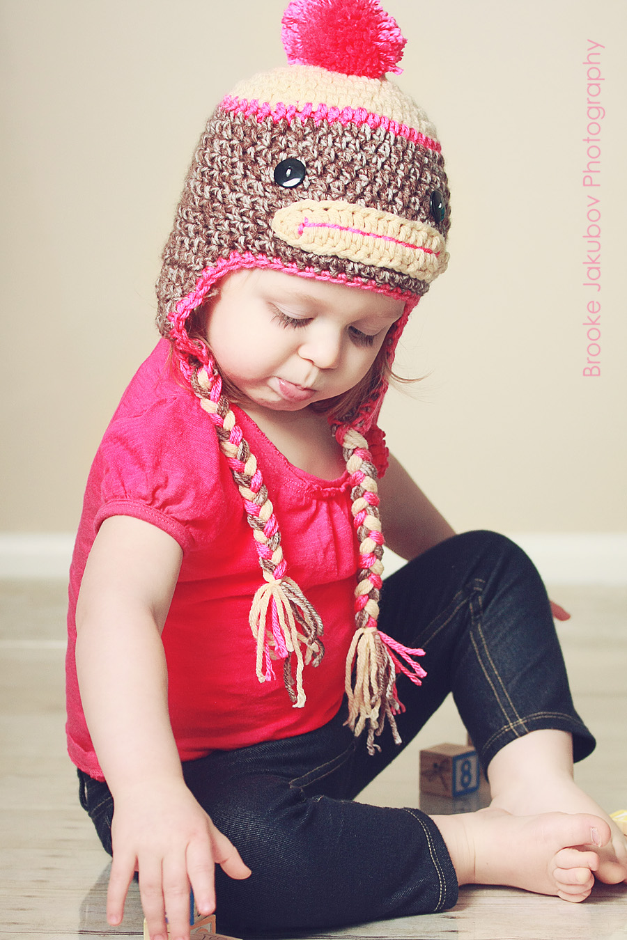 Just be happy!: Sock Monkey Hat