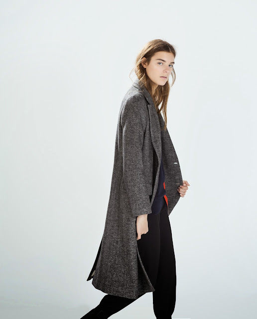 zara studio coat