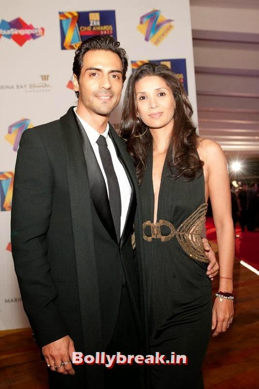 Arjun and Mehr Rampal, Zee Cine Awards 2011-2013 Pics