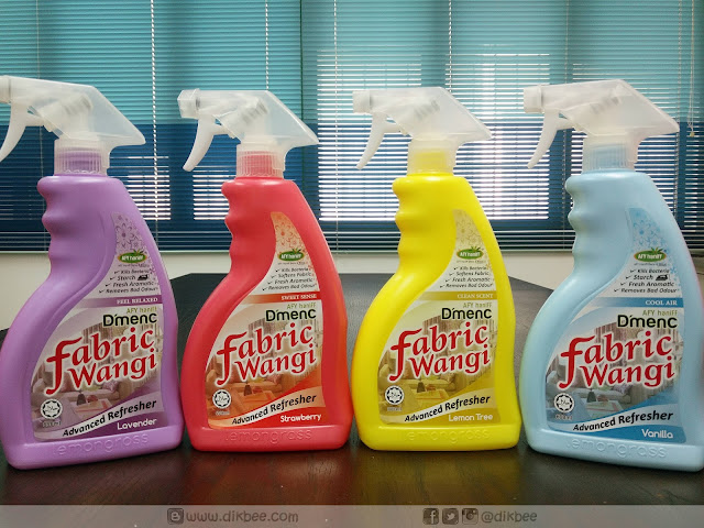 Harum Segar Afy Haniff D'menC Fabric Wangi dan D'menC Air Freshener
