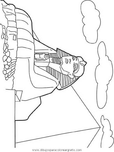 Egipto La Gran Esfinge de Guiza para colorear