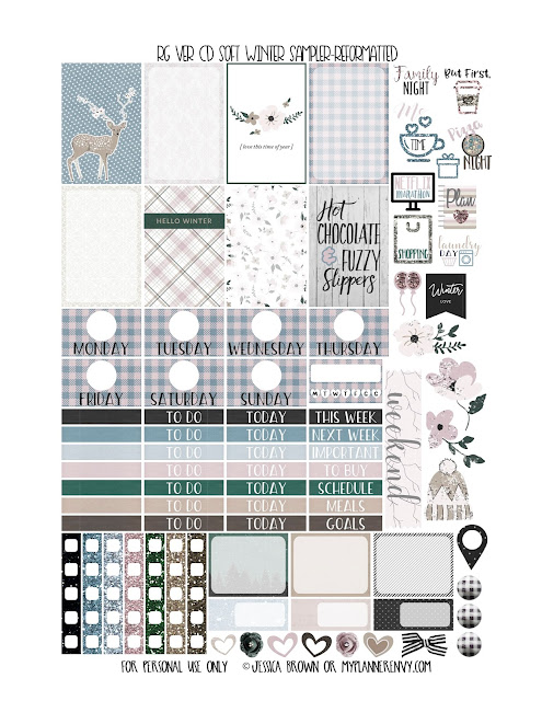 Reformatted Free Printable Soft Winter Sampler for the Vertical Carpe Diem Inserts from myplannerenvy.com