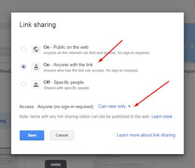 cara membuat share publik pada google drive