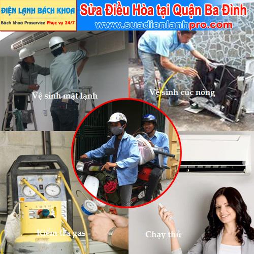Sửa điều hòa tại nhà ở quận Ba Đình