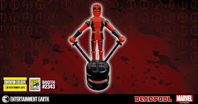 San Diego Comic-Con 2017 Exclusive Deadpool Marvel Wood Push Puppet by Entertainment Earth