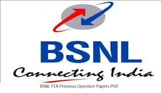 BSNL TTA Previous Question Papers PDF