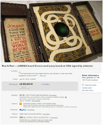 Jumanji Movie Prop Sells for