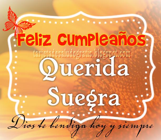 Feliz cumpleaños querida suegra