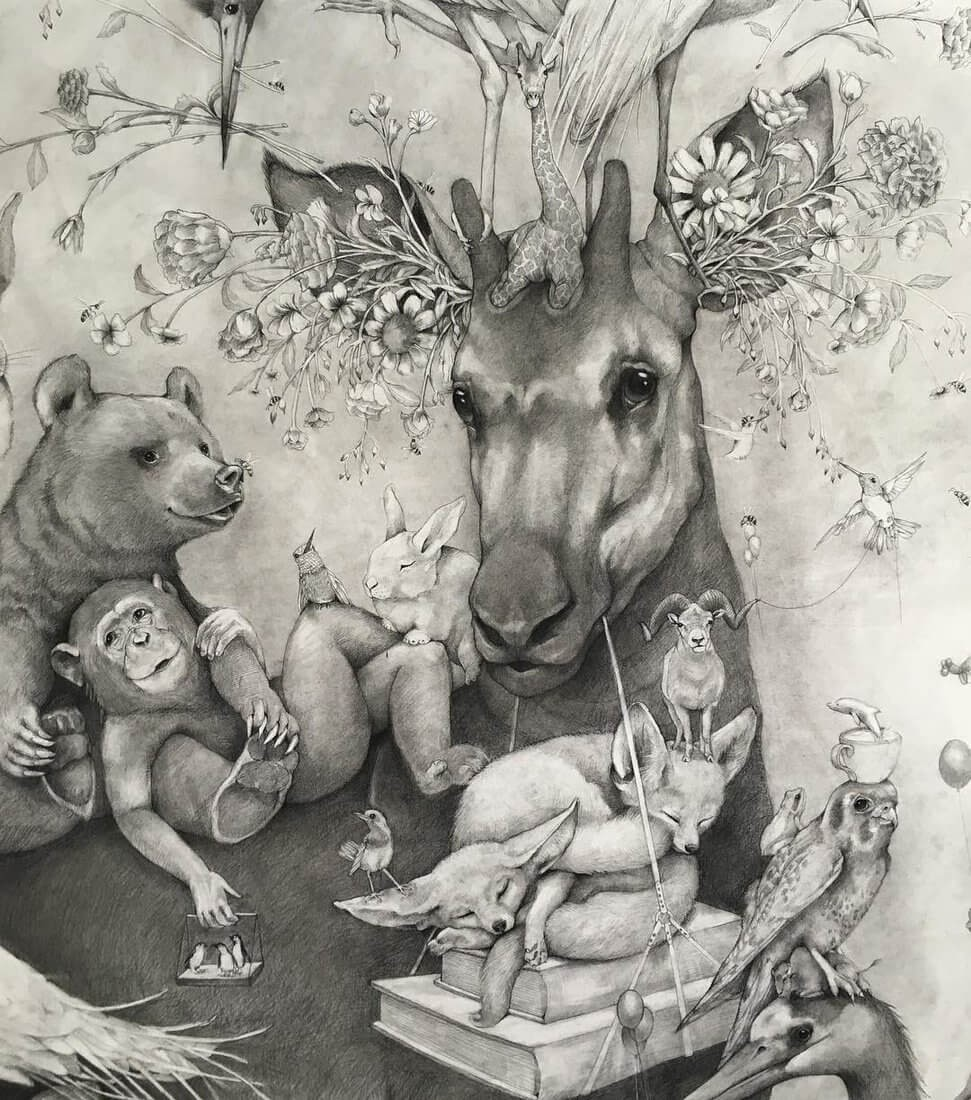 11-Small-and-Very-Large-Surreal-Animal-Drawings-www-designstack-co