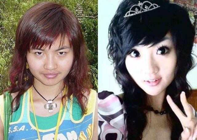 Funny Image Clip Before And After Makeup Asian Girls