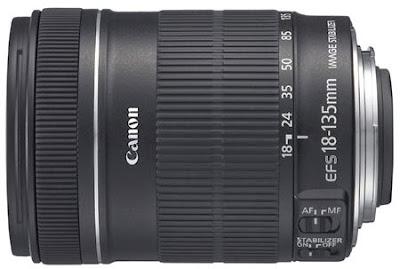 Lensa EFS 18-135 mm untuk kamera DSLR Canon EOS 60D