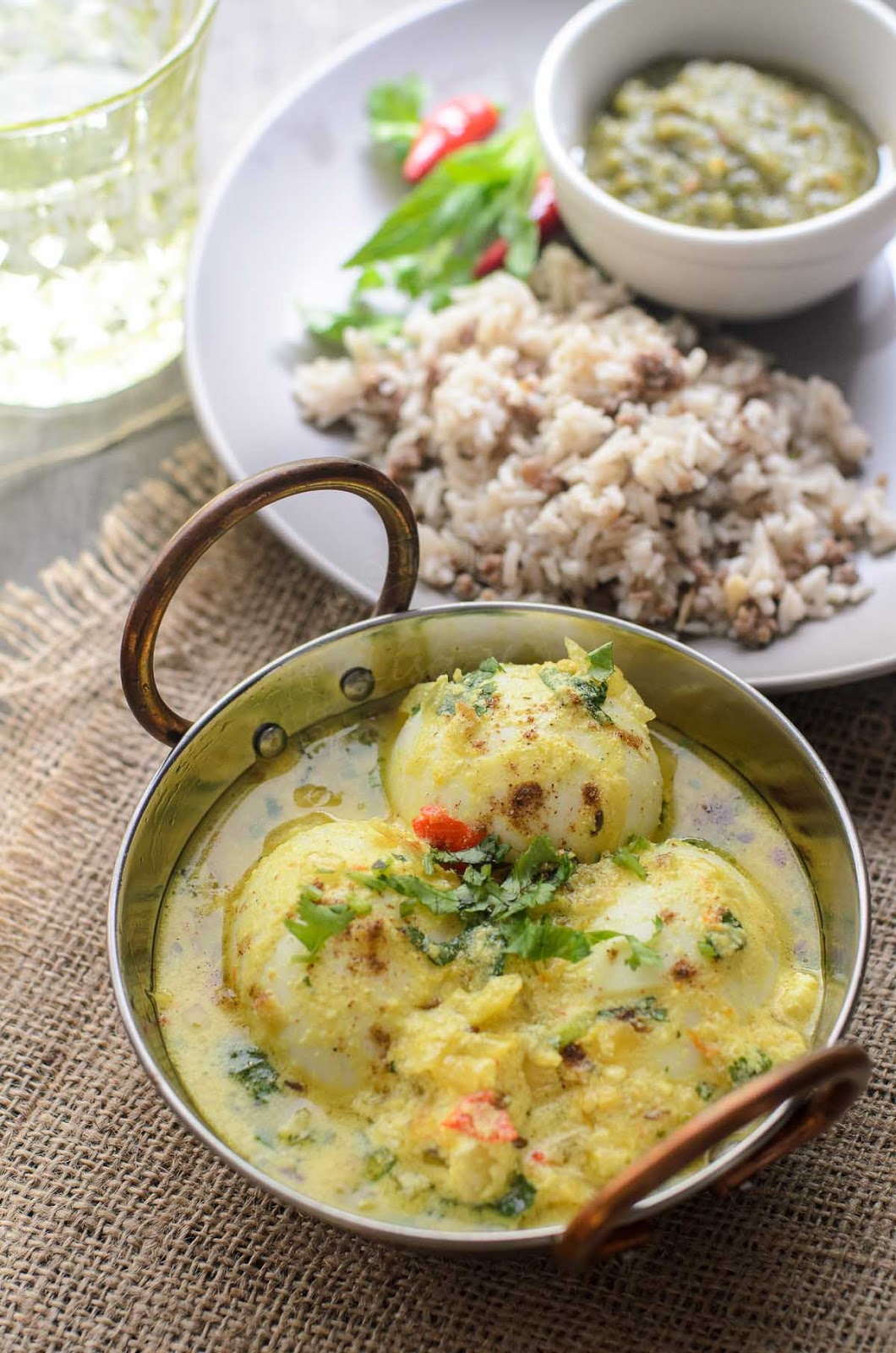 Eggs in Spiced Yoghurt Sauce image