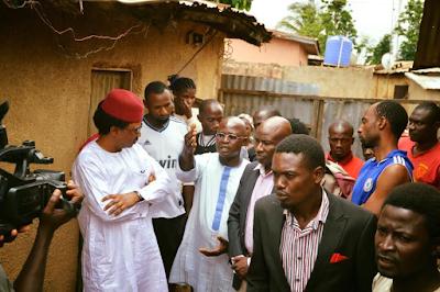 Photos: Senator Shehu Sani visit family of man allegedly killed by a soldier in Kaduna