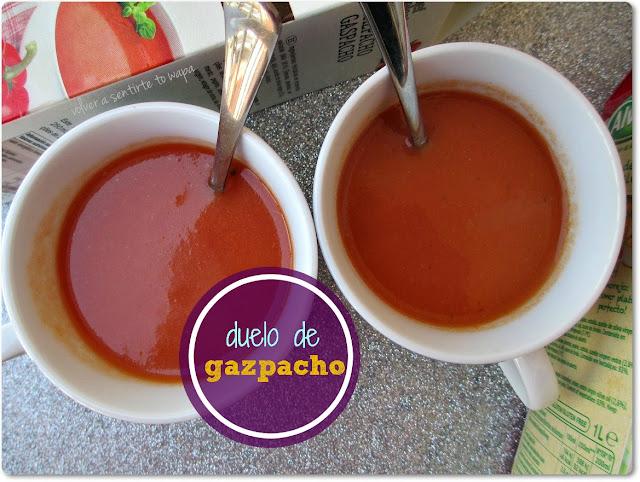 Comparativa GAZPACHO envasado: Alvalle - Lidl Tradicional