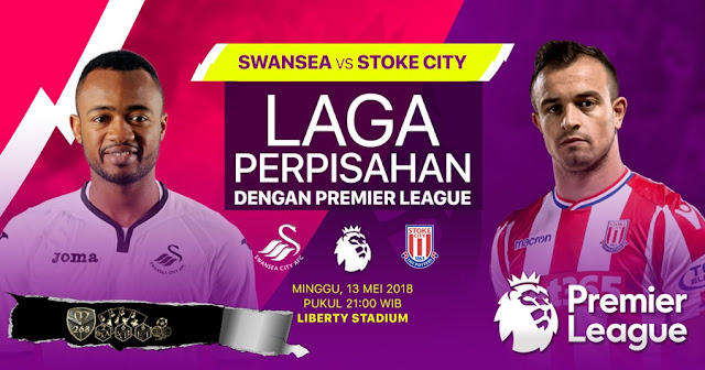 Prediksi Swansea City Vs Stoke City, Minggu 13 Mei 2018 Pukul 21.00 WIB