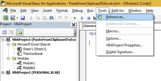 Excel-VBA Solutions: Paste Clipboard Content to Excel Sheet Using VBA