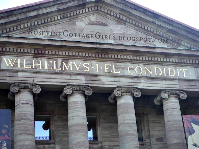 Columns and face of Wilhelmshöhe Palace