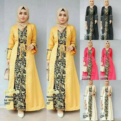 baju pesta batik muslimah masa kini