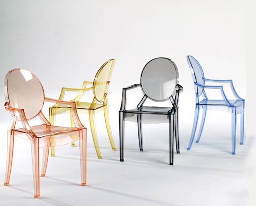 ... Has Been Produced In Several Transparent Colors, Three Solid Colors, A  Child Sized Version (The Loulou Ghost Chair), A Limited Edition Barbie  Version, ...