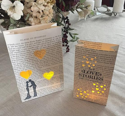 Book Page Luminary Bag