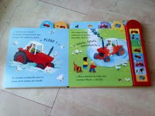 Le tracteur bruyant - Les contes de la ferme - Editions USBORNE