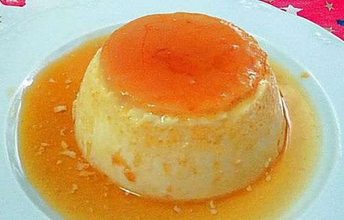 Flan de huevo tradicional ligero
