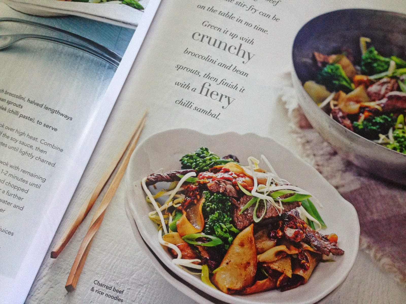charred beef and rice noodle stir-fry from delicious. magazine
