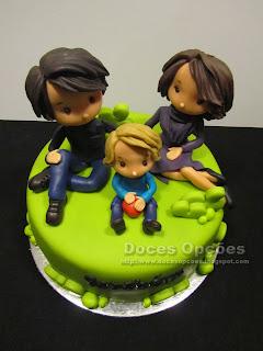 bolo aniversário familiar