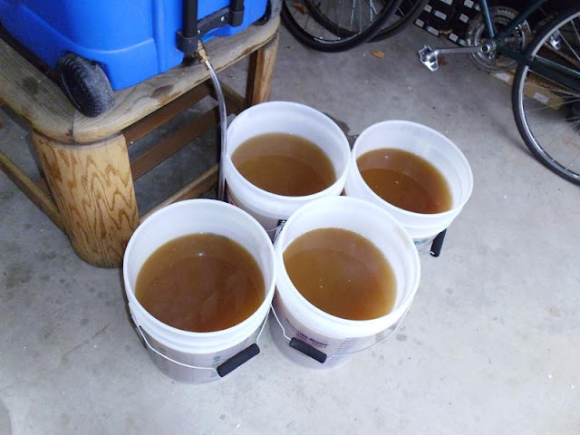 Wort after mashing
