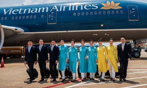 Mẫu đồng phục áo dài hàng không.