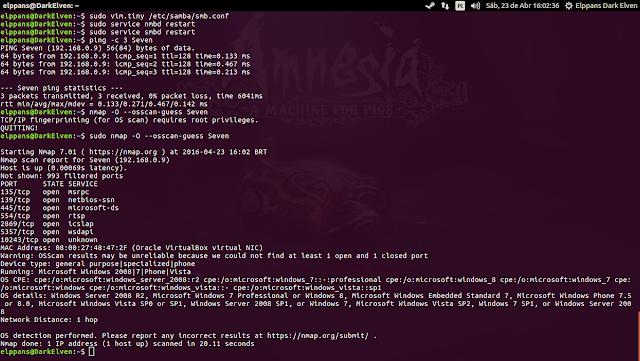 Resolução de nomes no Ubuntu 16.04 LTS no Terminal