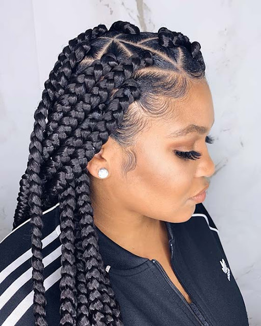Looking for a new and trendy braided style ✘ 33 Latest Lemonade Braids Hairstyles To Copy