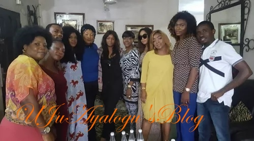 Nollywood Celebrities Pay Eucharia Anunobi A Condolence Visit (Photo)